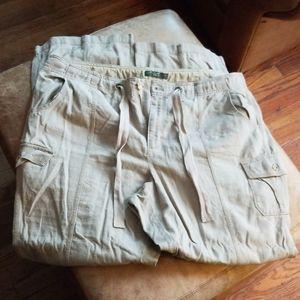 New Eddie Bauer 20 Tall Linen Pants